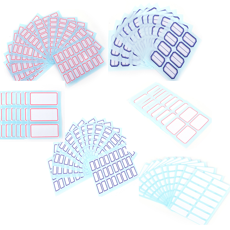 12sheets/pack Self Adhesive Sticky White Label Writable Name Stickers Blank Note Label Bar New