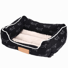 Cotton Printed Pet Dog Bed Mats Comfortable Autumn Winter Puppy Cat Bed Rectangle Sofa Bed for Small Medium Dog Pets Product