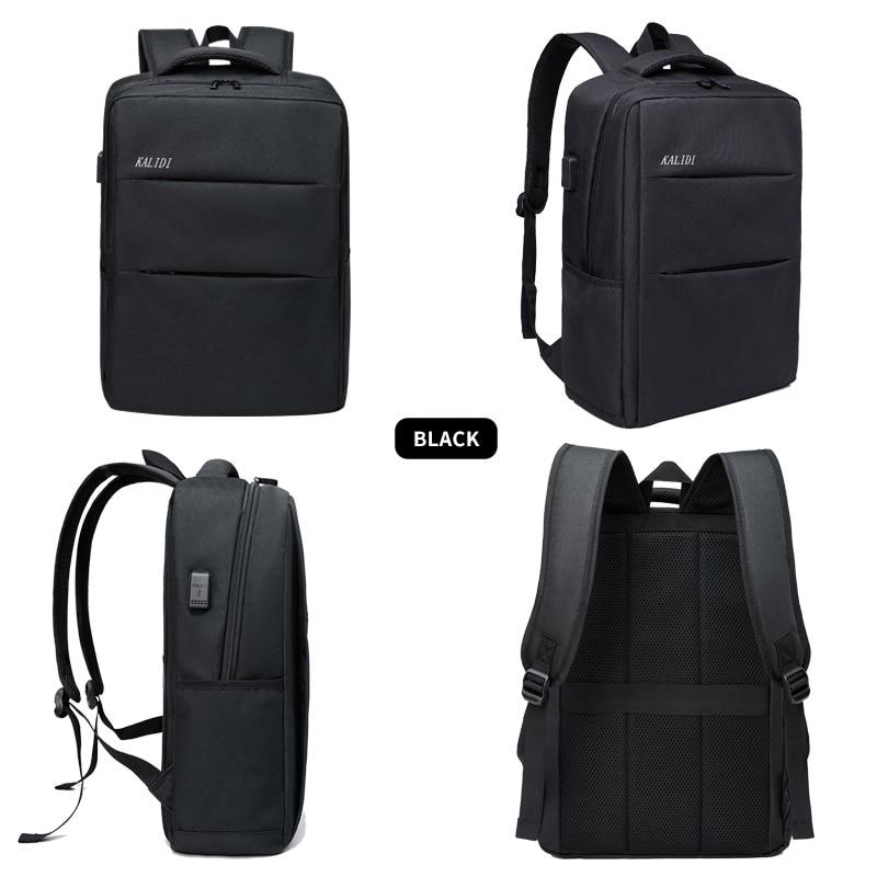 KALIDI mode décontracté sacs à dos d'ordinateur portable hommes toile 15.6 pouces sac à dos voyage pour adolescent mâle sacs d'école 17.3 pouces sacs à dos - 2