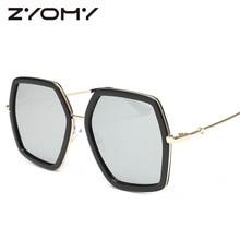 Little Bee Sunglasses Feminino Oculos De Sol Female Irregularity Polygon Brand Designer Retro Glasses Oversized Big Frame