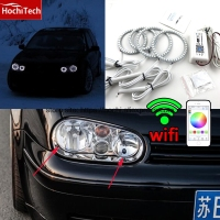 HochiTech Excellent RGB Multi Color Halo Rings Kit Car Styling For VW Volkswagen Golf 4 1998
