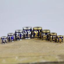 5 pièces/lot artisanat népal Style tibétain baril perles 8 10 12 14mm goutte huile alliage breloques résultats émail entretoise perles bricolage bijoux