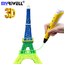 Myriwell Best 3d Pen Drawing Pens Magic 3D Printer Painting Pen Birthday Gifts for Kids ABS PLA Filament Lapiz 3d Pen Writing цена 2017