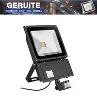 2 PCS GERUITE 100W LED Sensor Flutlicht 7000LM AC 85-265V IP65 Außen Induktion Beleuchtung Sensor flutlicht LED Lampe