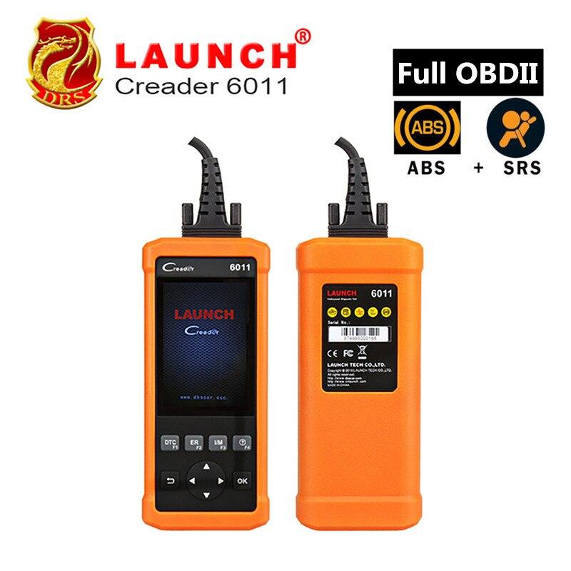 100% Оригинальные Launch Creader 6011 OBD2/EOBD диагностический сканер с abs и srs Системы диагностические функции CR6011