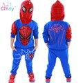 Sistema de la Ropa Del Bebé de Spider Man Spiderman Niños Niños Deportes Trajes 3-7 Años Los Niños 2 unids Establece Primavera Ropa de otoño Chándales