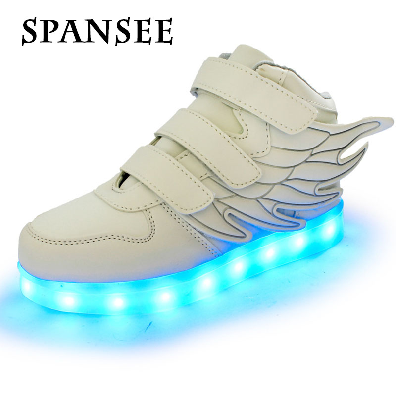 Children LED Shoes with Light up Baskets Boys Girls Lighting Glowing Shoes Chaussure Lumineuse Enfant Kids LED Sneakers Slippers