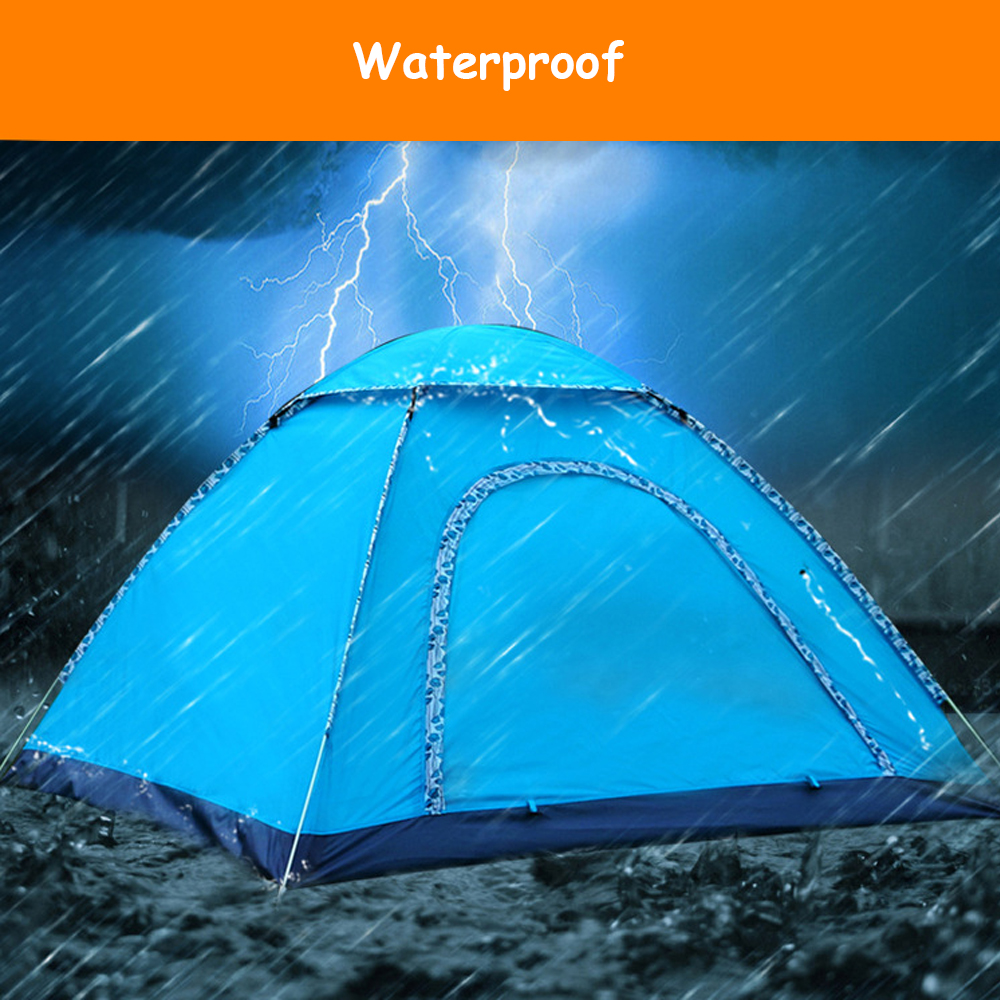 US $59 9 |Hillman Large 4 Person Instant Automatic Pop Up Tents Waterproof  with exquisite pieces of lace for Shelter Outdoor Sports Campin-in Tents