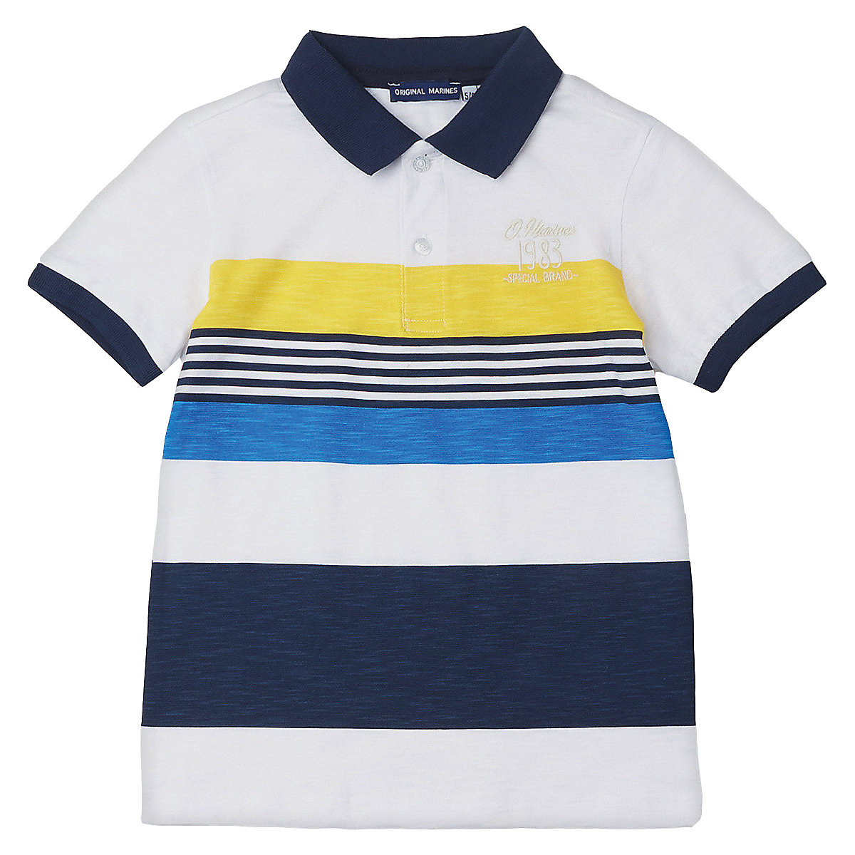 T-Shirts ORIGINAL MARINES 10830457 Children sClothing T-shirt with short sleeves polo shirt for boys and girls girls lace trim contrast ruffle hem striped t shirt