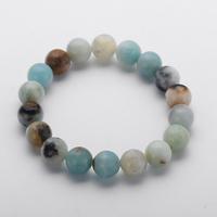 MOODPC New Design Energy   Bracelets   Made By 10mm Beautiful Natural Amazonite Stone   Bracelet     bangle