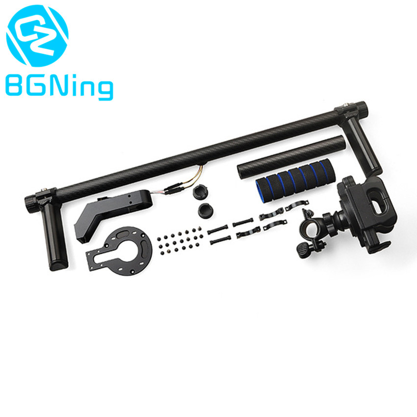 Carbon Fiber Tube Handle Frame Mount Adapter Kit with Mounting Bracket for Align G3-GH / G3-5D 3-Axis Handheld Gimbal Accessory цена