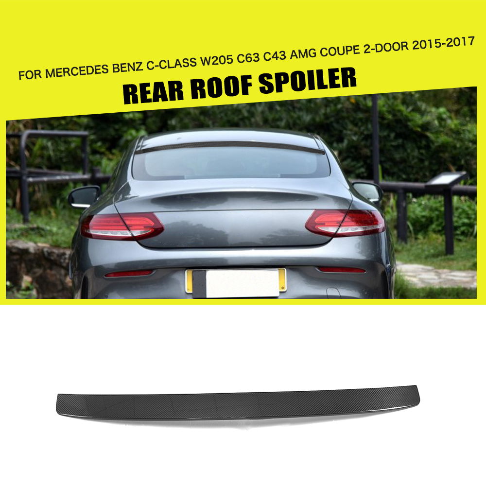 Carbon Fiber / FRP Black Rear Roof Spoiler Window Wing for Mercedes Benz C Class C205 C63 C43 AMG S Coupe 2 Door 15-17 C200 C250 ожерелье topshop 1 27