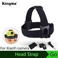 Kingma tres colas accesorios antideslizante ajustable headstrap para xiaomi yi deportes cinturón cabezal de la cámara negro edición