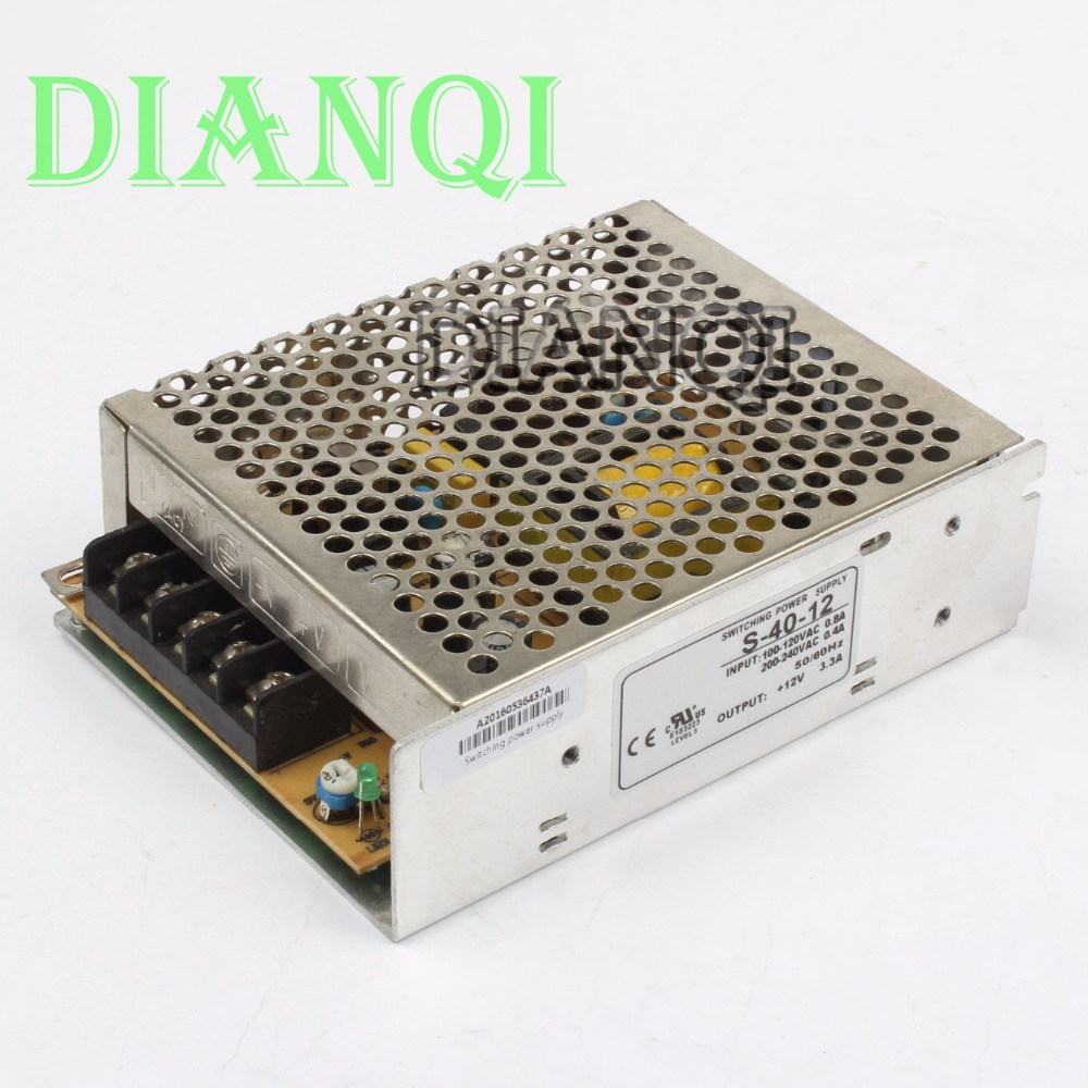 DIANQI S-40-12 led power supply switch 40W 12V 3.3a power supply unit ac dc converter  40W 12v variable dc voltage regulator dianqi led power supply switch 350w 24v 14 6a ac dc converter s 350w 24v variable dc voltage regulator s 350 24