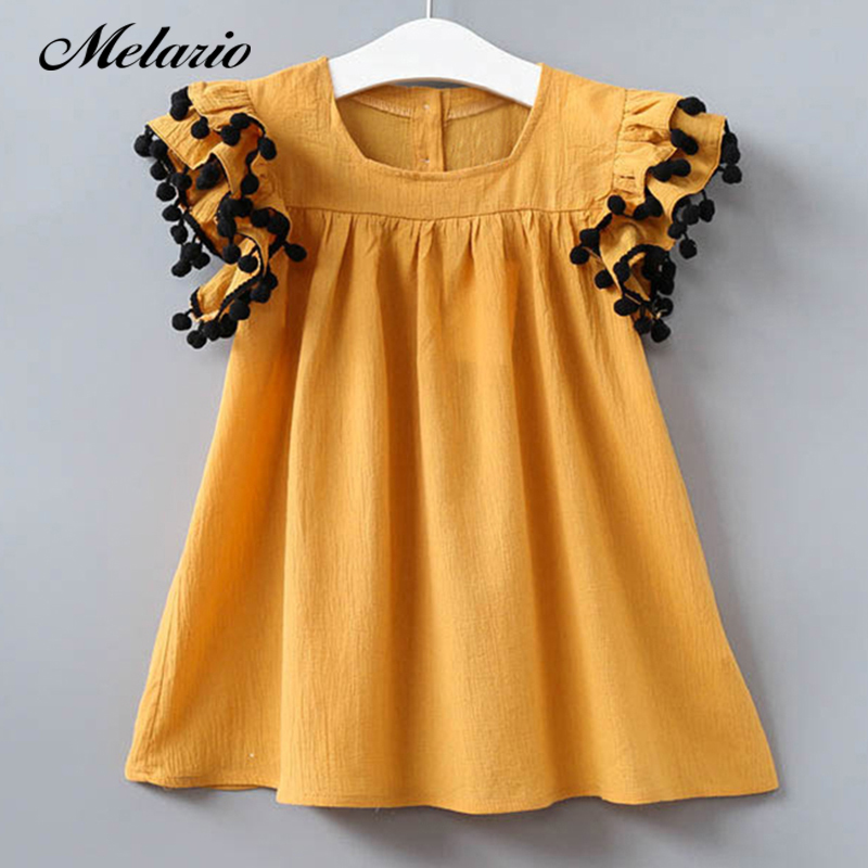 3cd5862d6c57d US $7.49 48% OFF|Melario Girls dress 2019 New Summer Dress Children  Clothing Fashion Tassel Princess Girl Clothes Kids Dresses for Girls-in  Dresses ...