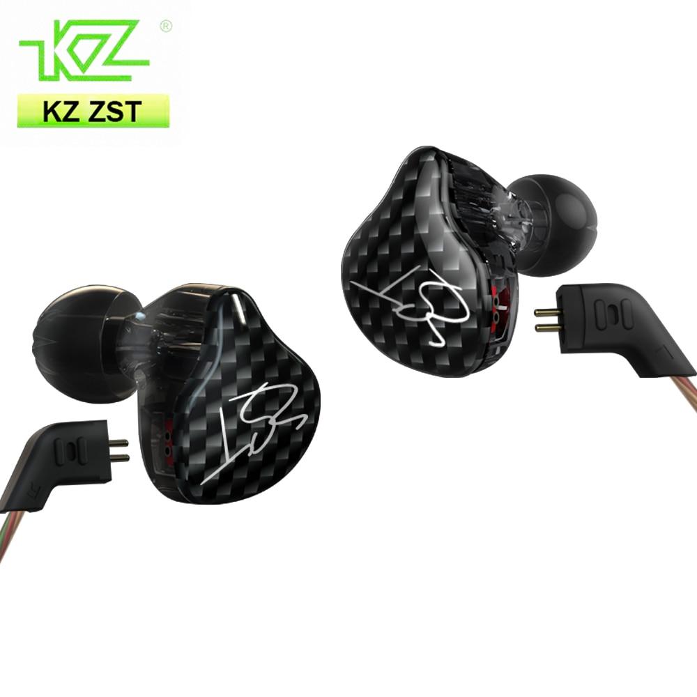 KZ ZST Hybrid-Ohrhörer Bluetooth + Kabelgebunden 2 Kabel Armature + - Tragbares Audio und Video