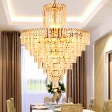 LED Modern Chandeliers Gold Crystal Chandelier Lighting Fixture American Droplight Shop Hotel Lobby Hall Villa Home Indoor Lamps цена в Москве и Питере