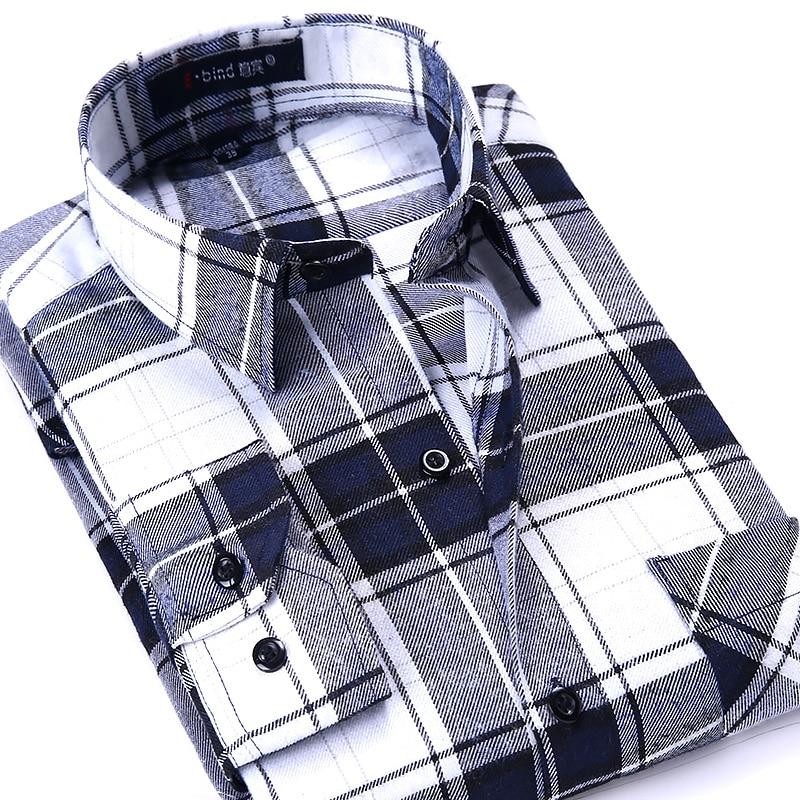 Casual Slim Flannel Plaid Shirt