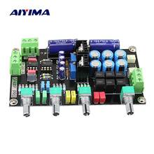Aiyima Bordo Tono Preamplificador NE5532 OP-AMP HI-FI Amplificador Preamplificador Tablero De Control de Tono Del Volumen