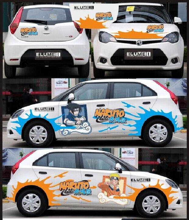 itasha 4 pieces ainme car sticker naruto car sticker