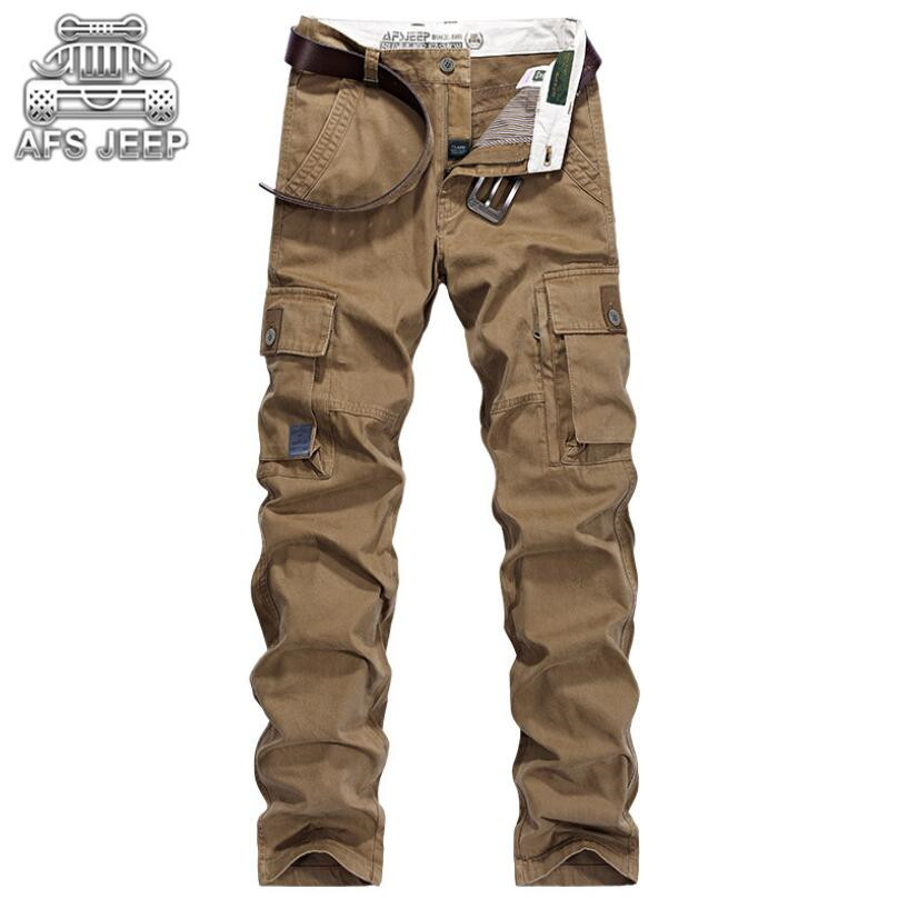 AFS JEEP	Military Style Cargo Army Military Pants Men's Pockets Design Breathable and comfortable Cotton Men Brand Clothing -in Cargo Pants from Men's Clothing