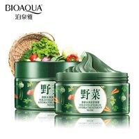 BIOAQUA Brand Vegetables Mud Mask Face Skin Care Deep Cleaning Acne Blackhead Treatment Hydrating Moisturizing Facial
