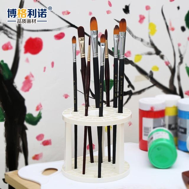 Bgln Paint Brush Pen Holder 49 Holes Pen Rack Display Stand Support Holder Watercolor Painting Brush Pen Holder Art Supplies 1