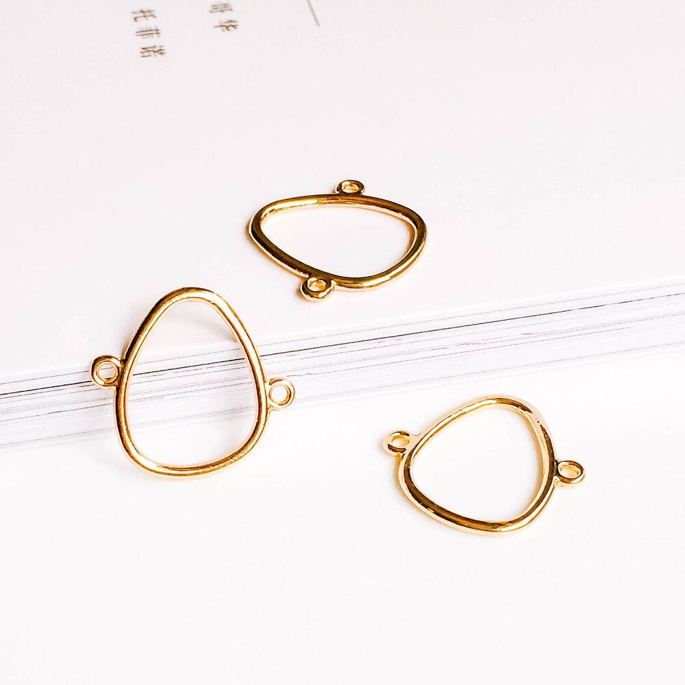 Zeroup kc banhado a ouro brincos pingente encantos componente jóias diy material feito à mão para brinco colar 10 pçs