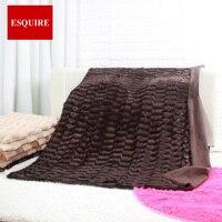 Super doux à double couche faux fourrure jet peluche couverture 127x152 cm 50