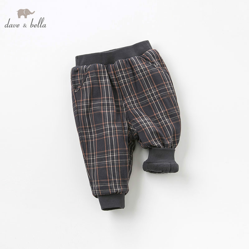 DB8529 dave bella winter baby boys fashion padded trousers kids plaid pants children boutique clothes db5612 dave bella winter baby boys full length kids fashion plaid pants children trousers