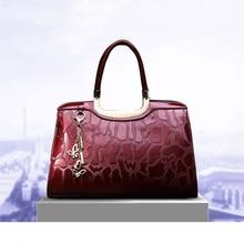 Luxurious leather handbags women bags designer fashion design patent crocodile pattern ladies shoulder bag