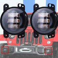Promtion 2PCS Pair 4 Inch 30W LED Fog Light For Jeep Wrangler High Power LED Fog