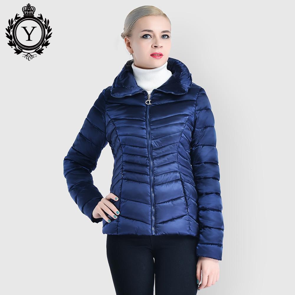 COUTUDI Wholesale Women's Jacket Winter Clothing Dark Blue Short Woman Warm Coats Cotton Padded Parka Coat Plus Female Jackets