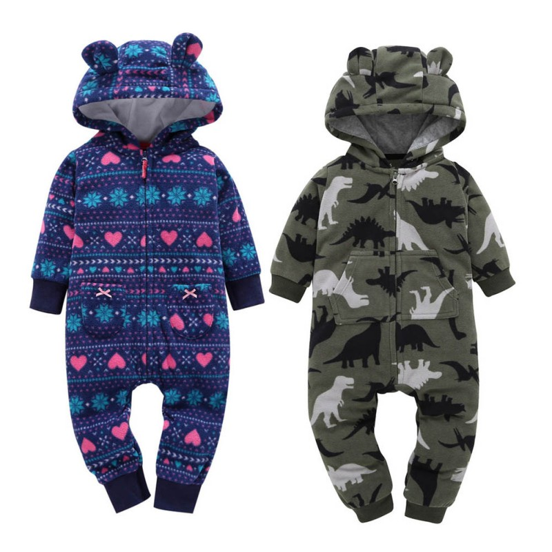 Newborn Baby Rompers Costume Winter Jumpsuit Fleece Romper For Boys Clothes Warm Infant Baby Girls Clothing Infant Bebe Costumes mother nest 3sets lot wholesale autumn toddle girl long sleeve baby clothing one piece boys baby pajamas infant clothes rompers