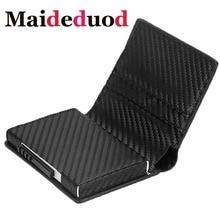 Maideduod New RFID Card Holder Wallet Metal Men Women Single Box Minimalist Fashion Aluminium Blocking for Cards