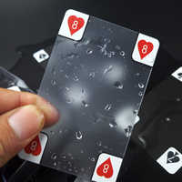 New Transparent Waterproof PVC Poker Playing Cards Plastic Crystal Waterproof Wareable Ware Resistant
