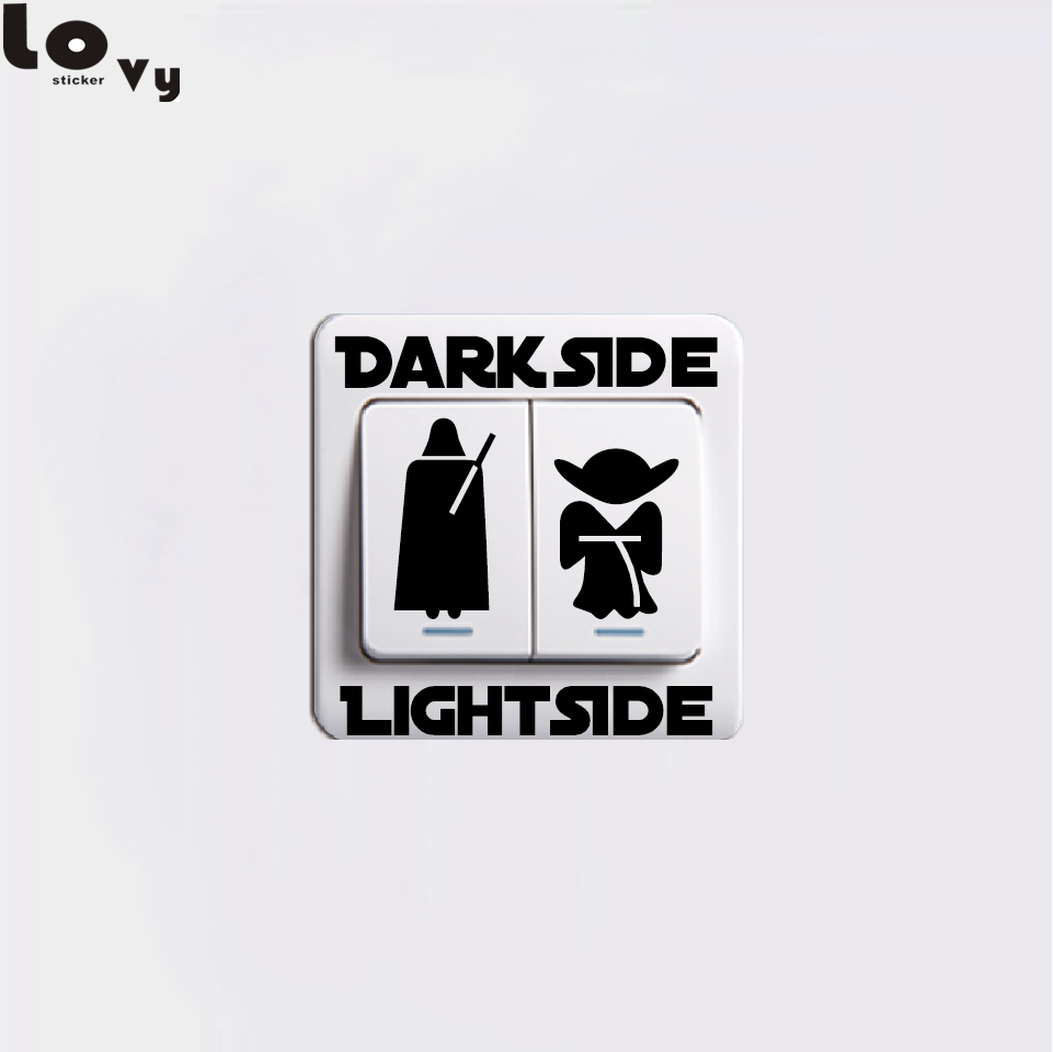 Star Wars Stickers Classic Movie Dark Side Light Side Switch Sticker