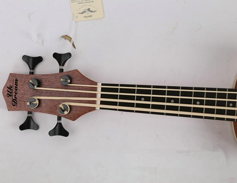 30 pouces Mini guitare électrique ukulélé 4 cordes basse Instruments de musique Sapele complet rétro bouton fermé Guitarra vente en gros - 2
