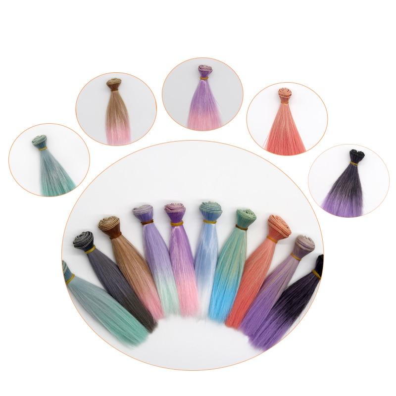 Msiredoll bjd peruca acessórios, 1 peça 15*100cm ou 25*100cm cabelo da boneca para 1/3 1/4 1/6 cabelo liso bjd peruca diy frete grátis