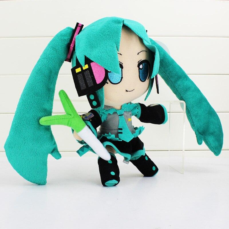 24cm Anime Doll Hatsune Miku Vocaloid Dakimakura Stuffed Soft Doll Plush Toy Hatsune Miku Doll Toys For s
