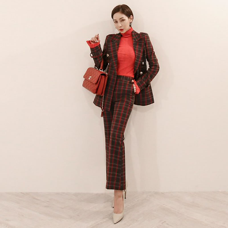 New Women Business Suits Blue Womens Pants Suit Slim Fit Suit Jackets With Pants Office Ladies Formal Ol Pants Work Wear Suits Unequal In Performance Suits & Sets Back To Search Resultswomen's Clothing
