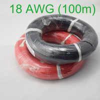 Cabos de cobre encalhados flexíveis do fio do silicone do calibre de 100m 18 awg para a fiação de rc