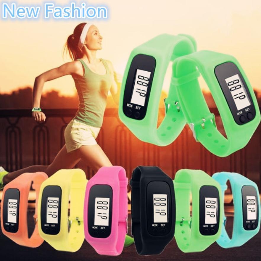 цена на Digital LCD Walking Distance Pedometer Run Step Walking Distance Calorie Counter Wrist Women&Men Sport Fitness Watch Bracelet