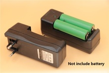 20pcs/lot Dual slots Battery Charger Universal Rechargeable 3.7V Li-ion battery charging adapter EU US plug  For 18650 16340