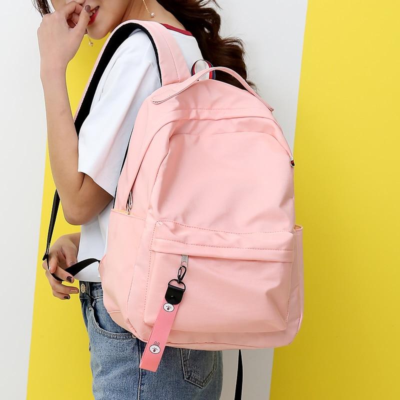 купить 2018 Women Canvas Backpacks Ladies Shoulder School Bag Rucksack For Girls Travel Fashion Bag Bolsas Mochilas Sac A Dos по цене 951.7 рублей