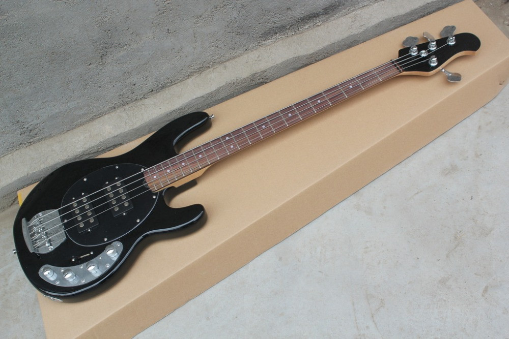 2016 new factory black music man bass musicman sting ray 4 strings electric bass active. Black Bedroom Furniture Sets. Home Design Ideas
