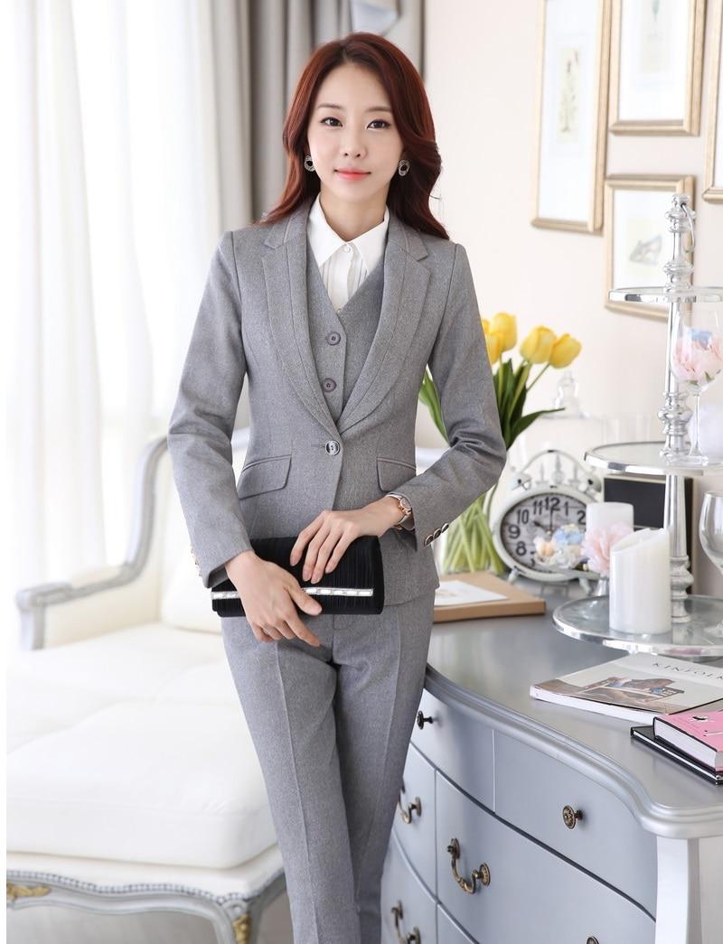 formal uniform style pantsuits ladies office business