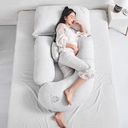 Cómoda almohada de embarazo para dormir a los lados, almohadas para amamantar y amamantar, almohadas para la cintura en el Abdomen, cojines en U de 85x175 cm, Almofada
