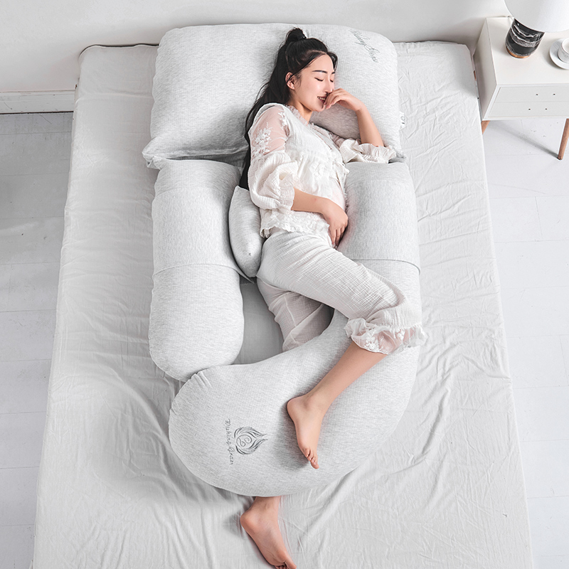 Comfortable Pregnancy Pillow For Side Sleepers Breastfeeding Nursing Support Abdomen Waist Pillows 85*175cm U Cushions Almofada