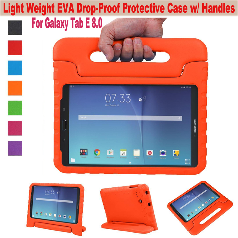 EVA Shockproof Case Light Weight Kids Super Protection Cover Handle Stand Case For Samsung Galaxy Tab E 8.0 inch 8 Tablet T377